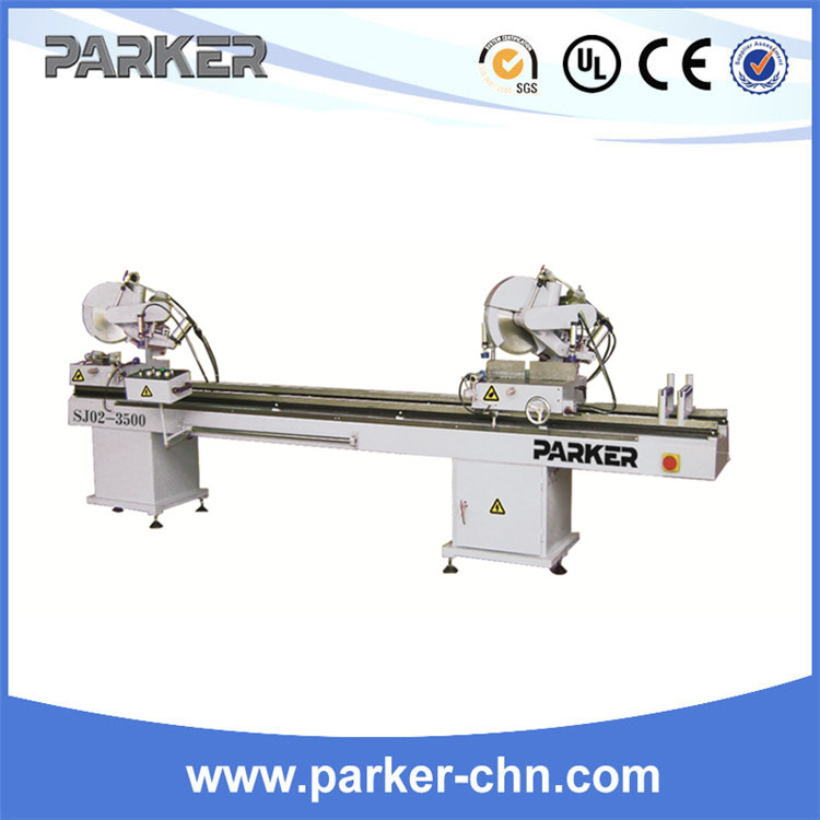 double head miter saw for plastic or vinyl profile/Plastic window door frame making machine/plastic window cutting saw