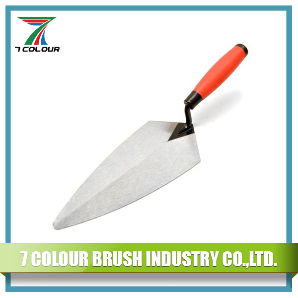 "11"" Carbon Steel Pointed Brick Trowel with Soft Handle"