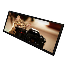 24.8 inch Ultra Wide stretched Bar LCD advertising display/ads player