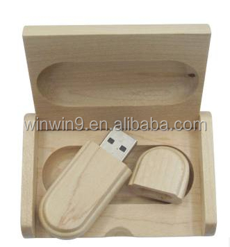Fashion custom wood usb and box with wooden box, custom wood usb and box stick, OEM custom wood usb and box