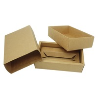Wholesale Custom Recycled Small Folding Kraft Gift Paper Box Paper Packaging Box