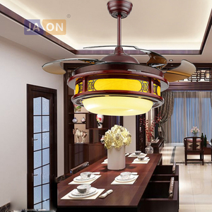 LED Chinese Iron Wooden Acryl Sheepskin Paper ABS Ceiling Fan.LED Lamp.LED Light.Ceiling Lights.LED Ceiling Light.For Foyr Foyer