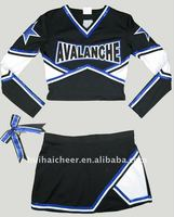 spandex cheerleading shell top and skirt