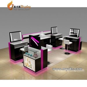 Hot Selling Hairdressing Barber Shop Kiosk Hair Salon Furniture Design For Sale