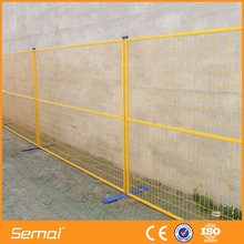 temporary construction fence panels with base