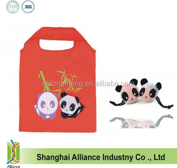 New style panda shaped foldable shopping tote grocery bag(CFA-144)