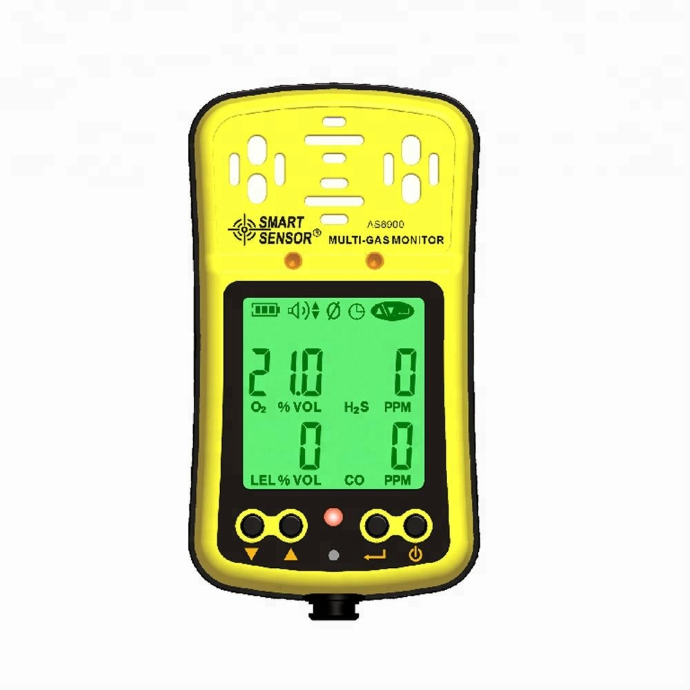 AS8900 4 in 1 portable Gas analyzer <strong>O2</strong> H2S CO Combustible Gas/LEL Multi Gas Detector