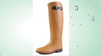 Women Flat Wellies Waterproof Rain Knee High Snow Shoes HOT PVC Rain Boots Women