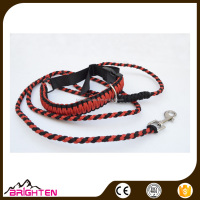 Red 550 Paracord Locking Dog Collar with Matching Leash