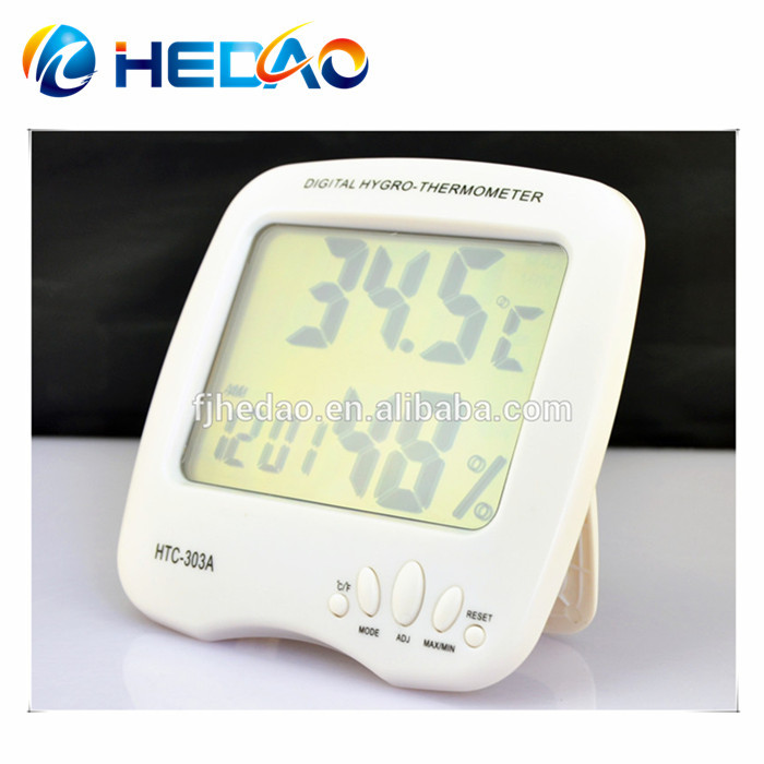 Humidity Temperature Meter Car Thermometer Clock for sale