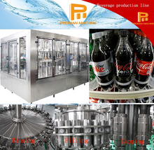 Rotary Type Soft Carbonated Drink Bottling Equipment 0.25L - 2.5L For Plastic Bottle