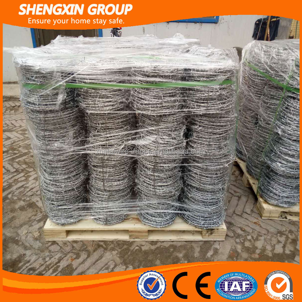 Hot dip galvanized barb wire security fencing