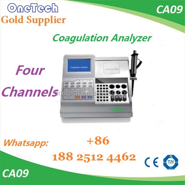 5 inch touch screen and keypad Blood coagulation analyzer / blood coagulation machine price CA09
