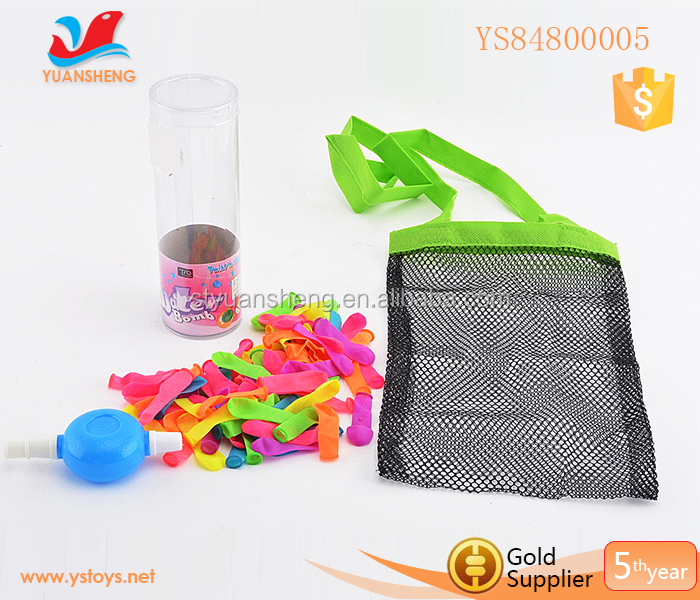 100pcs Water balloon filler with net bag packing water balloon with cheap price water balloon white