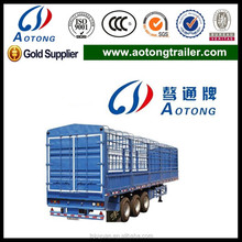 ISO 3 Axles Store House Bar cargo semi trailer for Vegetables Transportation with 12 Containers Lock
