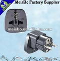 Germany embedded pinsshaver plug adaptor 10-16A 250V AC socket EURO. style With protection of door SS-9