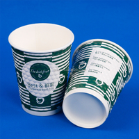 Disposable Embossed Insulated Paper Coffee Cups