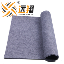 Wholesale 240cm width gray polyester flame retardant felt for carpet backing fabric