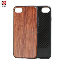 Wood Case Cover for iPhone X Dual Layer Slim Protective Shockproof TPU Bumper Cover Case for iPhone 8
