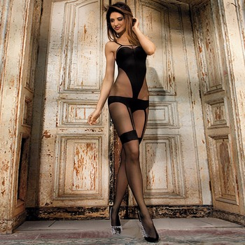 Beautys love woman sexy black transparent nightwear attractive women sex clothing full bodystocking