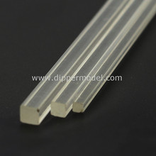 Architecture scale model materials plastic clear solid square/triangle acrylic rod