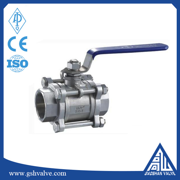 hand operate cast iron ball valve with npt thread