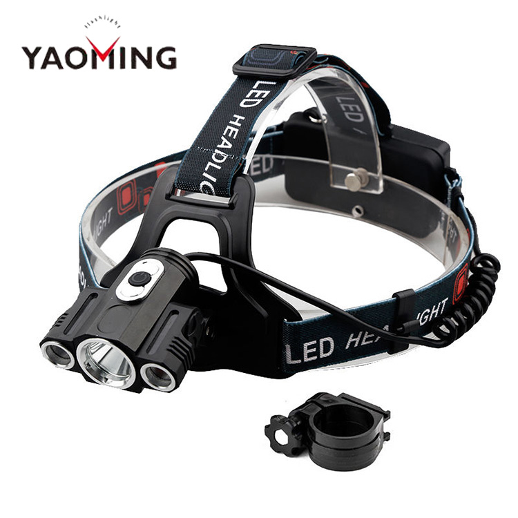 Factory direct rechargeable high power waterprof led headlamp for camping