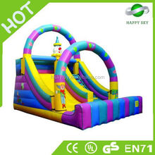 Good quality and safe inflatable slip and slide,kids inflatable slide tunnel,rainbow inflatable slide