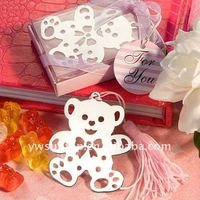 Fancy Cheap Lovable Pink Baby Teddy Bear Metal Bookmark Wedding Gifts
