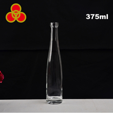 Empty round shape clear 375ml whisky vodka water glass bottle malaysia