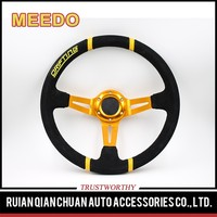 Sell well new type race car deep dish steering wheel black