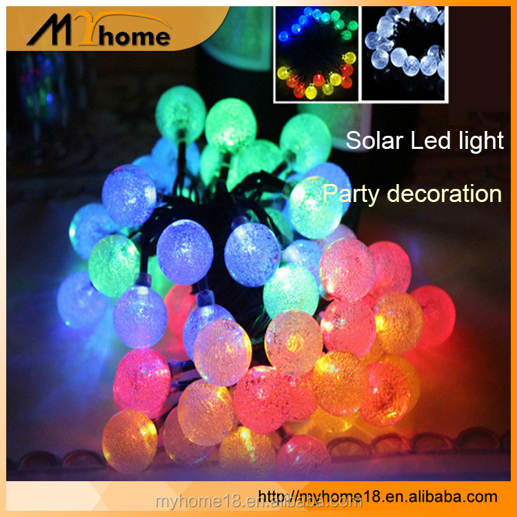 Factory party/wed/wedding Christmas Decoration LED Ball Solar String Light for outdoor garden