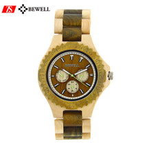 Dropshipping charming Bewell VD54 MOVEMONT men women wrist wood watch