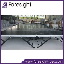 Outdoor folding aluminum portable stage backdrop design with high quality
