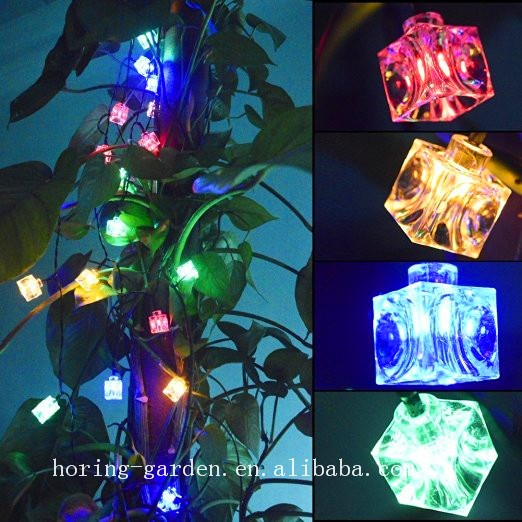 Good Quality Beautiful Flashing LEDS String Lights Ice Cube Brick Lights outdoor or indoor Solar Garden Light for decorative Lam