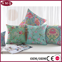 print custom 100% Cotton Flower Throw Pillow Case cushion cover