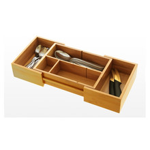Hot Sale Adjustable Bamboo Utensil Drawer Organizer