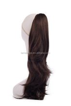 natural wavy black color hair wig, ponytail hairpiece for fashion women