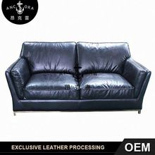 genuine leather reclining loveseat sofa A173