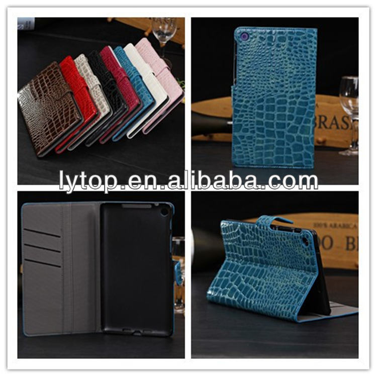 Crocodile Style Wallet For Google Nexus 7 II Leather Case