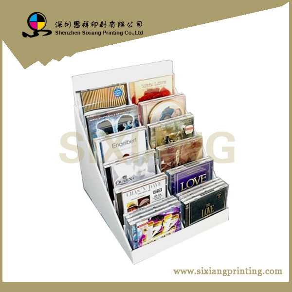 wholesale POS corrugated retail cardboard display&stand box for DVD/CD