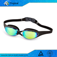 Hot sale new design high quality mirror coated swim goggles