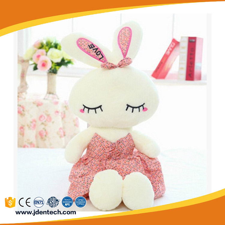 Beautiful new creative ballet rabbit flower skirt stuffed toy for decoration