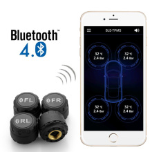Car Digital Tire Pressure Alarm Monitor System Bluetooth 4.4 TPMS with 4 External Sensors Support Phone APP