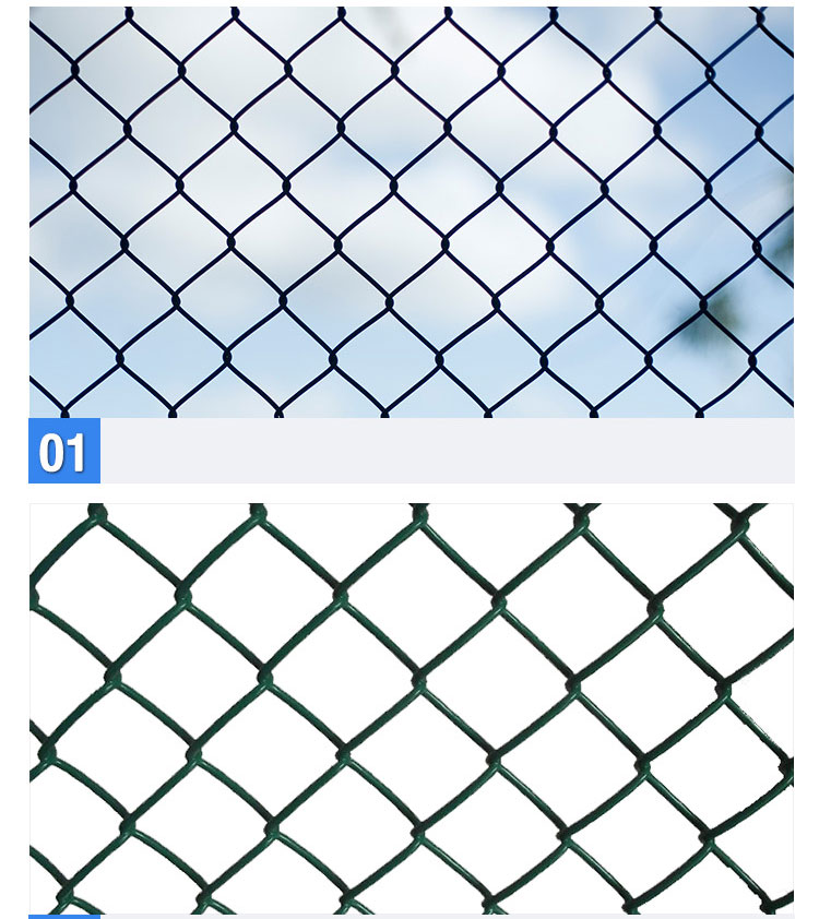 30 Years' factory supply Galvanized /PVC Coated chain link fence