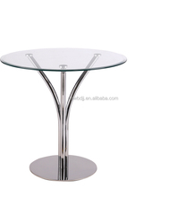 Home furniture classic design round glass dining tables for sale