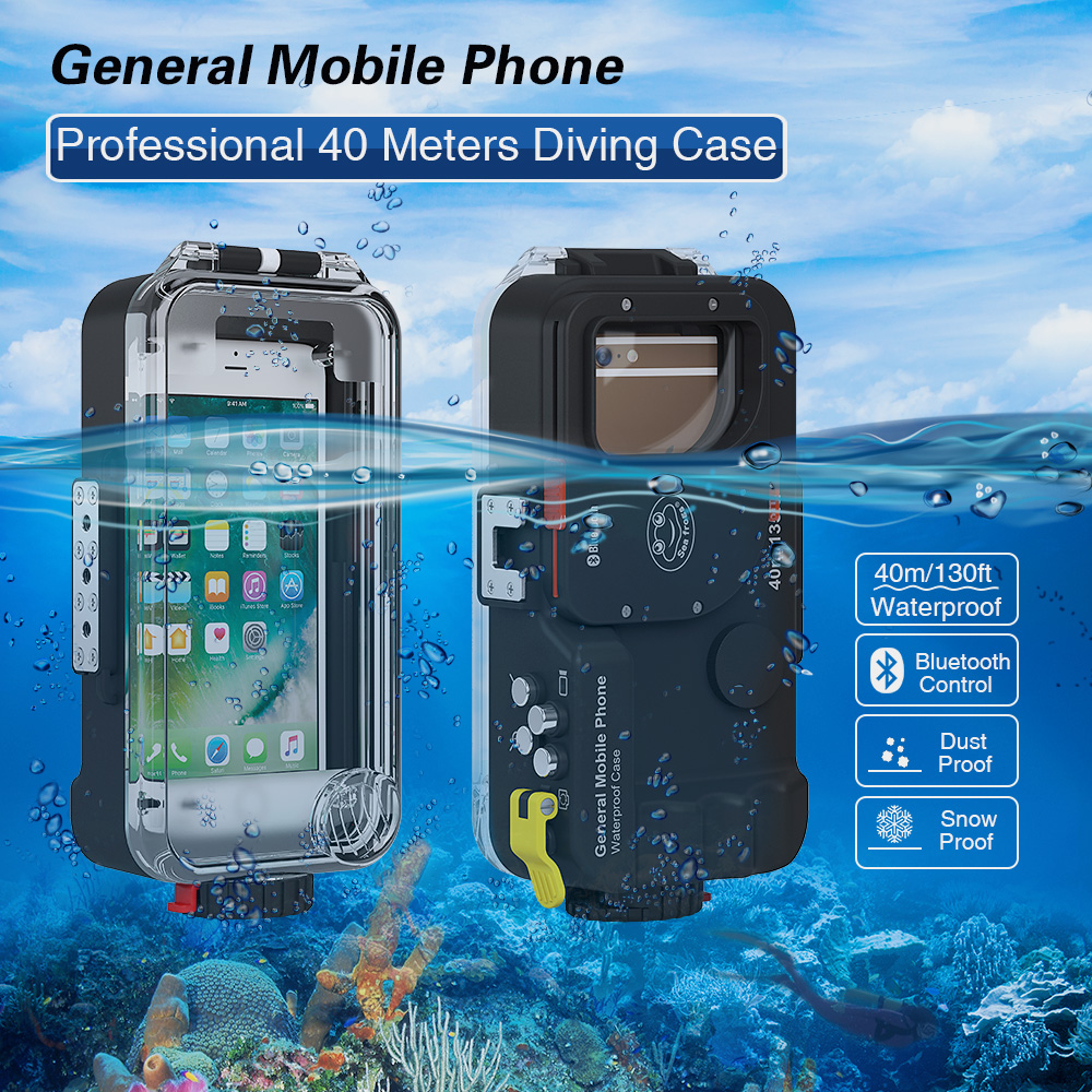 Smartphone Universal phone case 40M  Waterproof Housing for iPhone x xs max  for Huwei P20 &android cell phone