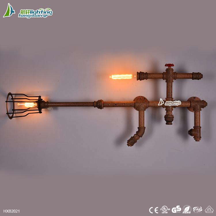 American rural industrial blower gun lamp corridor lamp decoration ,Water Pipe Wall Light for style#HXB2021