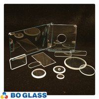 clear tempered glass sheet with cut holes for lighting cover