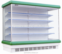 Europe Style Supermarket Open Display Refrigerator Used Commercial Vegetable Fruit Showcase Chiller for Sale